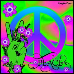Peace Fingers, Peace Art, Optical Illusions, Pattern Wallpaper, Peace And Love, Psychedelic, Symbols, Logos, Happy