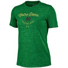 Women's Under Armour Notre Dame Fighting Irish Triblend Tee, Size: Medium, Green