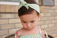 Girl's Organic Cotton Knot Headband MInt Headband by KindredOAK, $11.95