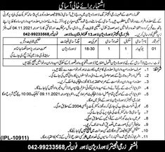 Agriculture Department Disabled Person Lahore Jobs 2021