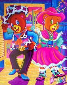 Hollywood and Beverly by Lisa Frank Teddy Bear Cartoon, Teddy Bears, Lisa Frank Stickers, Bear Art, Pretty Art, Cute Drawings, My Little Pony, Artsy, Kawaii