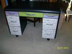Recycled Desk by Feather Thy Nest on Etsy.com