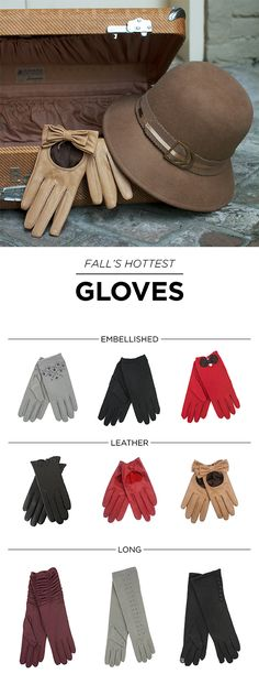 FALL in love with our hottest retro-inspired accessories including gloves, hats, and handbags!