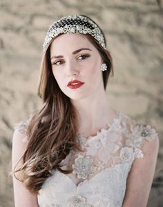 Sparkly bridal headpiece by Enchanted Atelier | photo by Laura Gordon