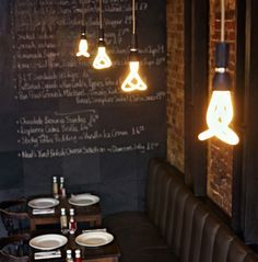 Love the Chalkboard wall. Would be perfect for a Tea Room.