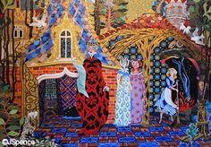 I love the Cinderella mosaics in the castle at Walt Disney World.