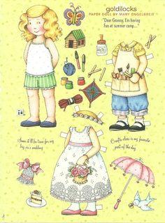 Goldilocks Mary Engelbreit Magazine Paper Dolls Having Fun at Summer Camp | eBay