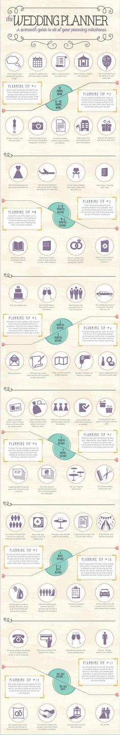 Wedding Planning Guide and Timeline List