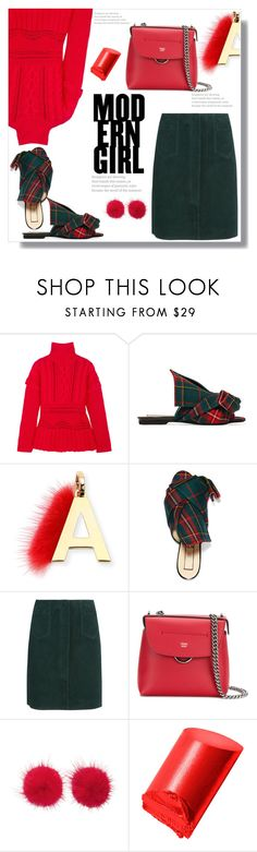 """Modern Girl"" by queenvirgo ❤ liked on Polyvore featuring Altuzarra, N°21, Fendi, M.i.h Jeans, Wild & Woolly, Bobbi Brown Cosmetics and modern"