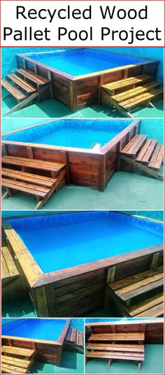 The best advantage of creating this wood pallets pool is that you can customize this pallet project according to your needs and this pallets pool plan is less expensive as compared to the construction of other swimming pool ideas.