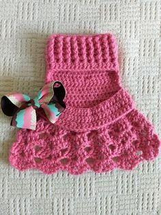 Crochet Dog Sweater Free Pattern, Crochet Baby Dress Pattern, Crochet Dolls Free Patterns, Crochet Stitches Patterns, Crochet Crafts, Crochet Projects, Knit Crochet, Crochet Dog Clothes, Pet Clothes