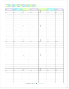 monthly task calendar template