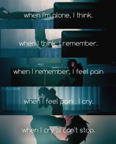 """When I'm alone, I think. When I think, I remember. When I remember, I feel pain. When I feel pain, I cry. When I cry, I can't stop.."" -Anime: Mekakucity Actors - Kagerou Project -PV: Lost Time Memories -Edit by Karunase -Tumblr: karunase.tumblr.con"
