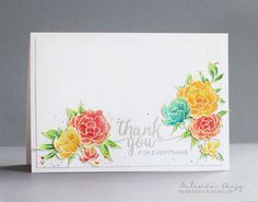 melania deasy: Paper Crafts & Scrapbooking Special Thanks Blog Hop Pretty Peonies and Hand-lettered Thanks