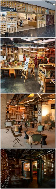 Brand X creative playground by Loop Creative, Sydney #pallets