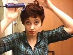 cute curly pixie hair style mine is curly anyway but might be a good way to make it more of cute curls