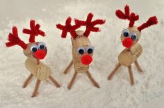 Cork Reindeer: These reindeer can not fail to bring a smile to your face.  My kids were so excited to make them for our Christmas Mantlepiece.  Both 6 and 4 year olds were able to complete the activity with a little help.