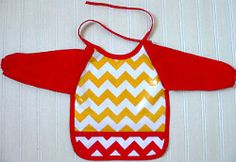 Baby bibs with extra coverage. Very cute patterns!