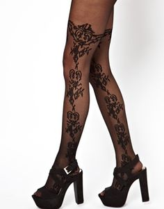 ASOS Lace Floral Pattern Tights