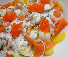 Salade « Mini » à la Truite Fumée