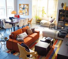 Living room and Dining room Combined Rugs