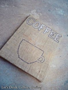 After laying out the design with chalk, outline your design on the burlap with a paint pen or sharpie.
