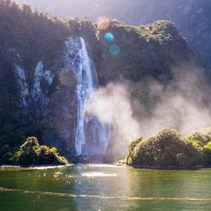 Glow of the Bowenfalls, Fiordlands, New Zealand . Itinerary Planner, Travel Planner, Nz South Island, New Zealand Travel, Waterfalls, Trip Planning, Wonders Of The World, Glow, Outdoor