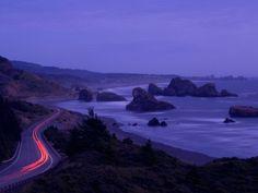 Highway along the Pacific coast ~ U.S. Route 101 ~ Cape Sebastian State Scenic Corridor ~ Oregon, USA