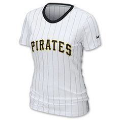 Nike MLB Pittsburgh Pirates Women's Pinstripe Tee Shirt