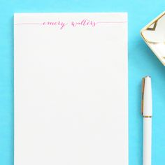 Stationary notepad, Elegant stationery, Stationery for adults.