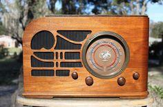 Crosley Wooden Art Deco Radio