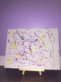 To cute splatter art for kids! This is a fun way to let the wifi rest 😂