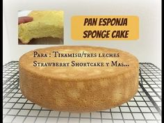 "Miren lo que es este bizchocho. Está en video. ""Bizcocho base muy pero muy esponjoso y fácil …   Receitas Soberanas Madeline Cake, Mom Cake, Cake Boss, Cakes Plus, Tres Leches Cake, Sponge Cake Recipes, Cheesecake Cake, Types Of Cakes, Cute Cakes"