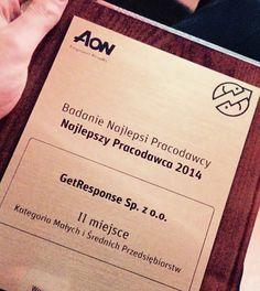 ...bo zajęliśmy II miejsce w Polsce w badaniu na Najlepszego Pracodawcę 2014!