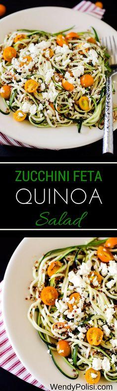 Zucchini Feta Quinoa Salad