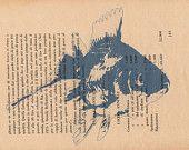 Pag.63, Pesce Blu, stampa in tono d'azzurro, posizione pagina orizzontale.