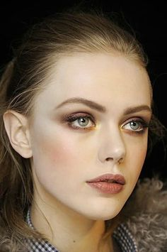 Warm up fair skin with shades of plum and mauve for the Fall.