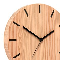 The Primary Line Clock is a modern classic. Machined from solid Douglas Fir with a hand printed colour ...