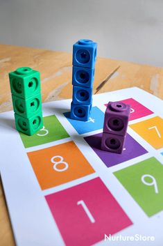 Math towers – unit block addition activity printables – math activity with blocks Addition Activities, Math Activities For Kids, Math For Kids, Preschool Learning, Kindergarten Math, Addition Games, Math Games, Teaching, Early Years Maths