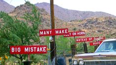 "I remember the funny ""Burma Shave"" signs we used to see in the 1950's on summer vacation road trips."