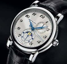 Montblanc - Star Twin Moonphase, ref.110642 - Slf-winding, cal.MB29.13, 4Hz, 42hr p.r., date, moon phases in the Northern & Southern Hemispheres, age of the moon - 42mm, steel case, silver-white guilloché dial ~3k