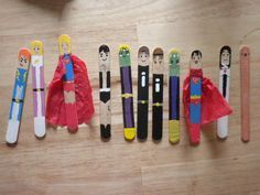 Popsicle paddlepop stick superheroes - so cool!