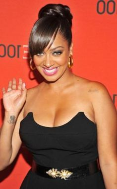 buns and bangs images | African American Long Hairstyle with Bangs for Black Women
