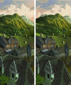 stereo view painting: the mountain | Flickr - Photo Sharing!