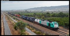 Spain : Class 335.012 passing at Les Palmes with TECO from Silla to Castellón - by Javier López - 03 july 2014