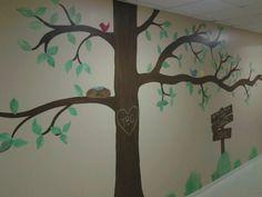 tree wall mural #childrensministries #wallart #painting