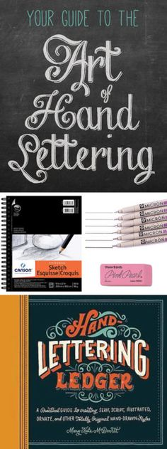 Your Guide to the Art of Hand-Lettering ~ Do you know someone who would like to learn the art of hand-lettering? These helpful tools would make great gifts! | #Ad