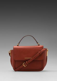 MARC BY MARC JACOBS Get A Grip Emma Top Handle in Red Clay - Marc by Marc Jacobs