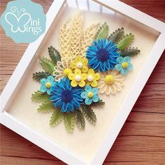 Miniwings Flower Paper Art Quilling / Modern Home Decoration /