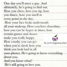 One day, you'll meet a guy...